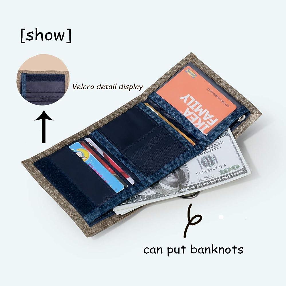 QA/_ Men Trifold Short Wallet Canvas Sport  Patchwork Burse Coin Card Holder Pu