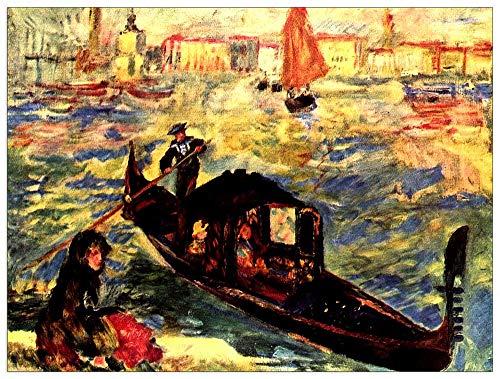 ArtPlaza TW92741 Renoir Pierre-Auguste - Gondola on The Canale Grande Decorative Panel 35.5x27.5 Inch Multicolored (Gondola Furniture)