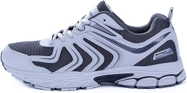 Zapatillas de Trekking para Hombres Zapatos de Escalada para Correr con Cordones para Correr al Aire Libre Zapatillas de Trekking para Correr de Cuero para Hombres: Amazon.es: Zapatos y complementos