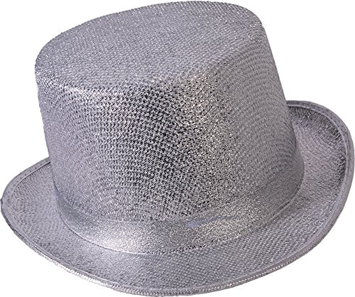 Forum Novelties Men's Adult Glitter Mesh Costume Hat, Silver, One Size