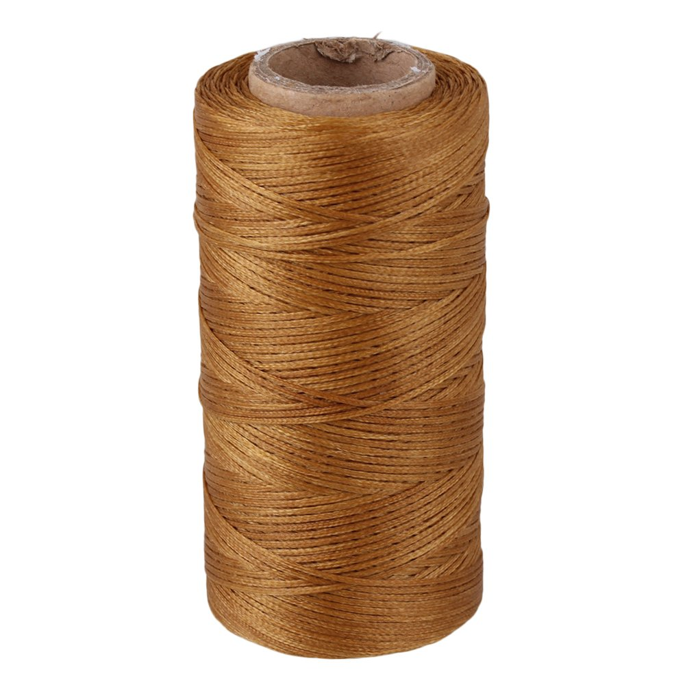 BQLZR Beige 180M 210D Flat Polyester Waxed Wax Thread Cord Sewing Craft for DIY Leathercraft BQLZRN06511