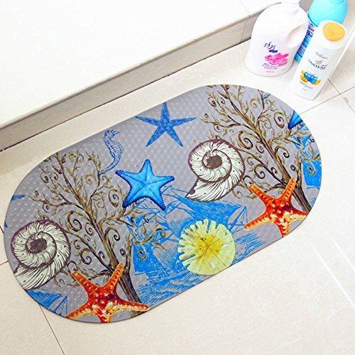 SHARLLEN Rutschfeste Matten Durchsichtige PVC Anti-Bakterien Anti-Rutsch-resistente Badewannenmatte Mit Saugn/äpfen