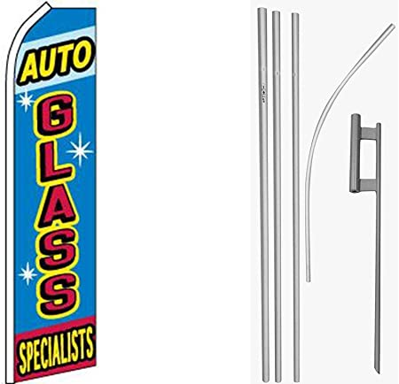 "/""AUTO GLASS SPECIALISTS/"" super flag swooper"