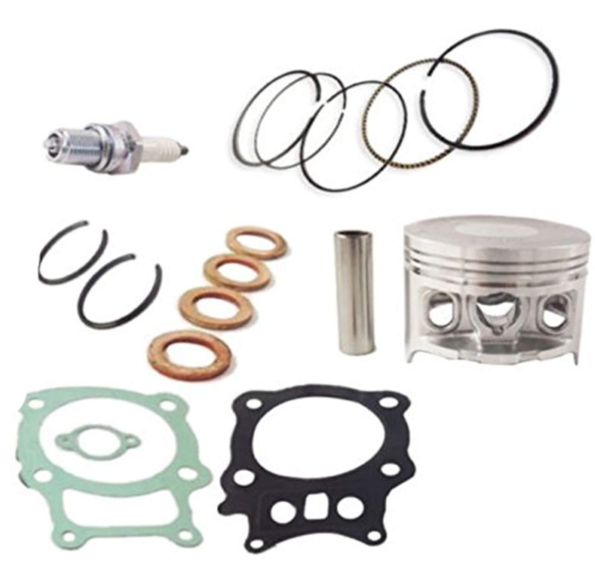 Qauick Piston Gasket Top End Kit for Honda Rancher 350 TRX350 TRX350FE TRX350FM TRX350TE TRX350TM ATV Quad 2000-2006 Replace OEM # 13101-HN5-670 12100-HN5-670