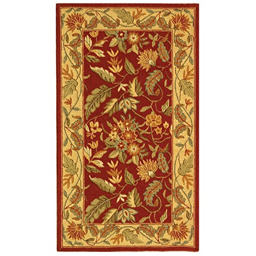 Safavieh Chelsea Collection HK141C Hand-Hooked Red Premium Wool Area Rug (2'9