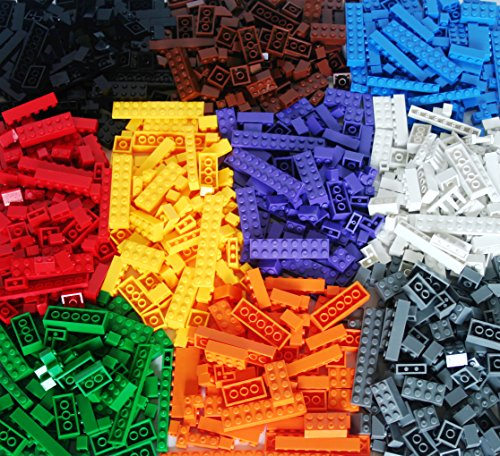 DreambuilderToy Building Bricks 1030 Pieces Set, 1000 Basic Building Blocks in 10 popular colors,30 bonus fun Pieces includes Wheels, Doors, Windows, Compatible to All Major (City Block Tires)