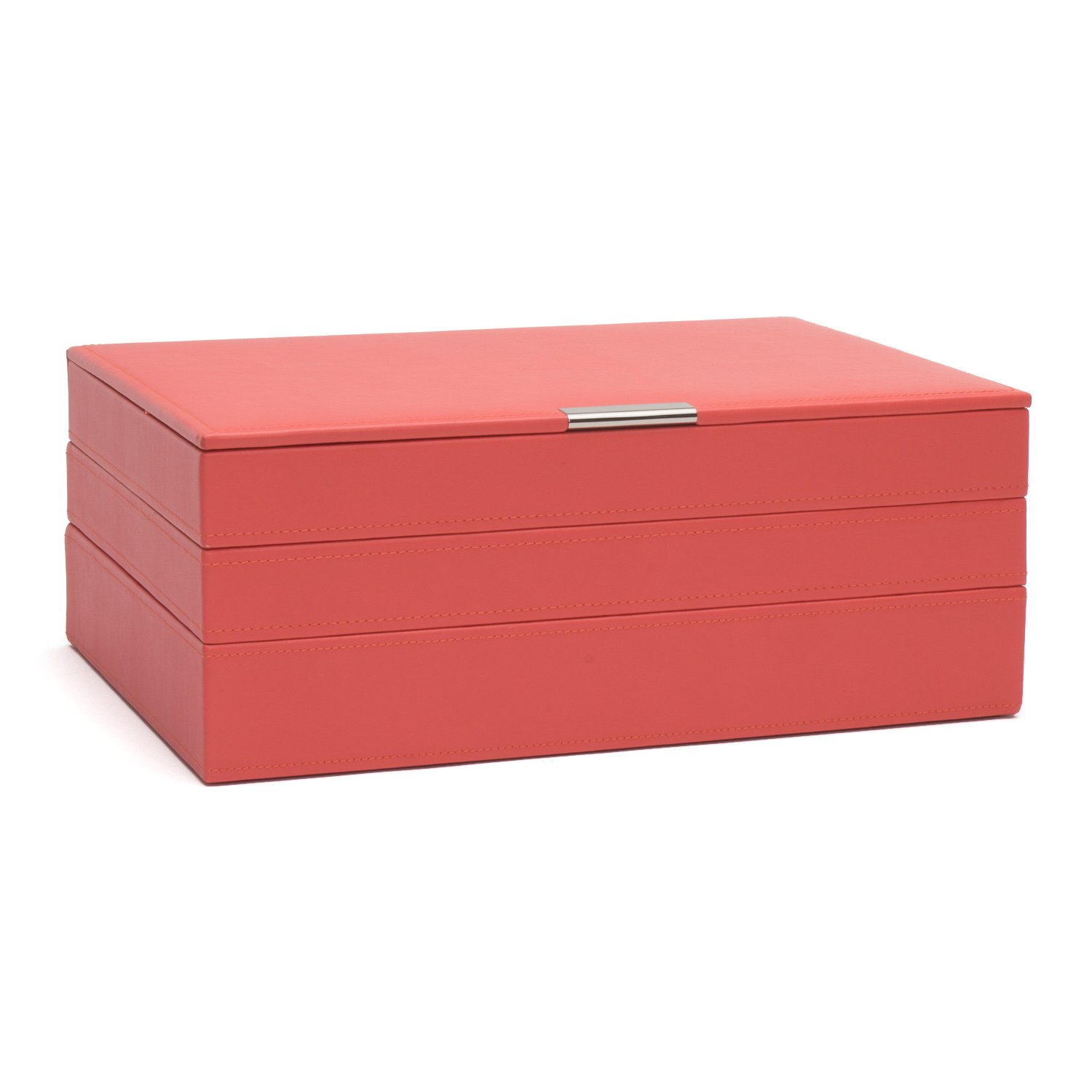 WOLF 300642 Large Stackable Tray Set, Coral