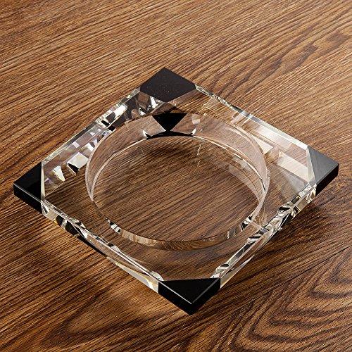 KHSKX-Cenicero Creativo Vivo Humo Cenicero Grande De Cilindro De Vidrio Con Tapa De Personalidad ,20Cm Regalos De Cristal