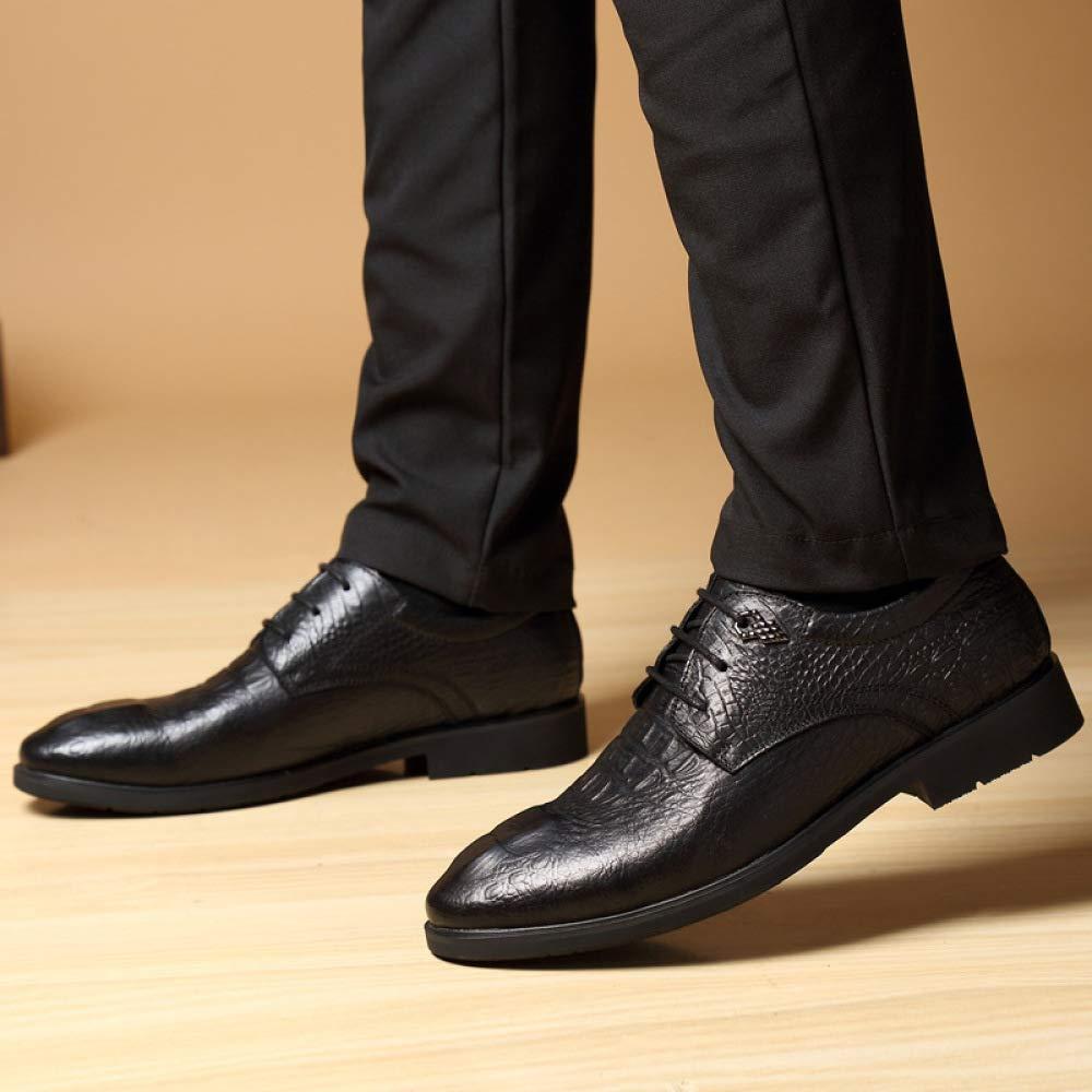 YXLONG Spitzige 45 Schuhe Herbstmänner Beschuht Beiläufige Geschäftsschuhe 45 Spitzige Große Größenjugendschuhe Crocodilepatternschwarz 77c89f