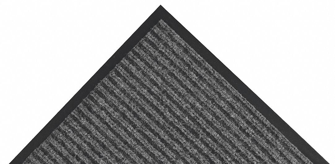 Notrax - 117S0048CH 117 Heritage Rib Entrance Mat, for Home or Office, 4' X 8' Charcoal