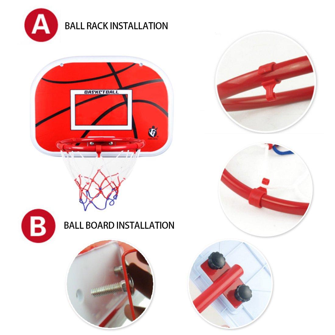 Polai Panier de Basket sur Pied Enfant Basketball Hoop 105-200cm
