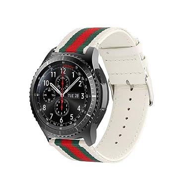 huanlong Samsung Gear S3 reloj banda, 22 mm acero inoxidable Metal reemplazo reloj inteligente banda