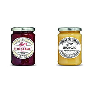 Tiptree Little Scarlet Strawberry Preserve, 12 Ounce Jar & Lemon Curd, 11 Ounce Jar (312g)