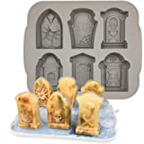 Halloween Molds Tombstone Silicone Ice Cube Tray RIP Gravestone Ice Molds Silicone Coffin Resin Mold Halloween Candy Chocolat