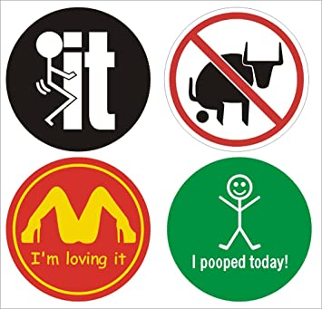 10 Set Funny Hard Hat Sticker / Helmet Decals/Vinyl Stickers /SIZE:2&quot