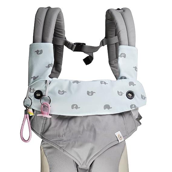 Vicsou - Juego de 3 paños para bebé Ergobaby 360 con diseño de gota y dentición: Amazon.es: Bebé