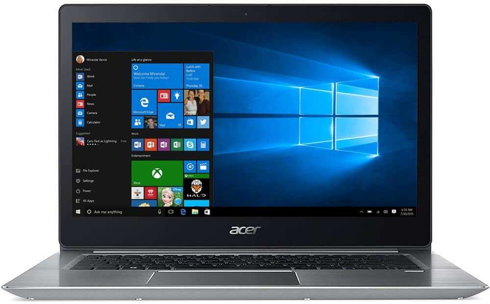 "Acer Swift 3 SF314-52-50T6 14"" LCD Ultrabook - Intel Core i5 (8th Gen) i5-8250U Quad-Core (4 Core) 1.60 GHz - 4 GB DDR4 SDRAM -"