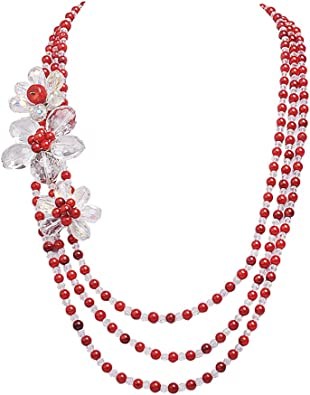collier perle fantaisie 3 rangs