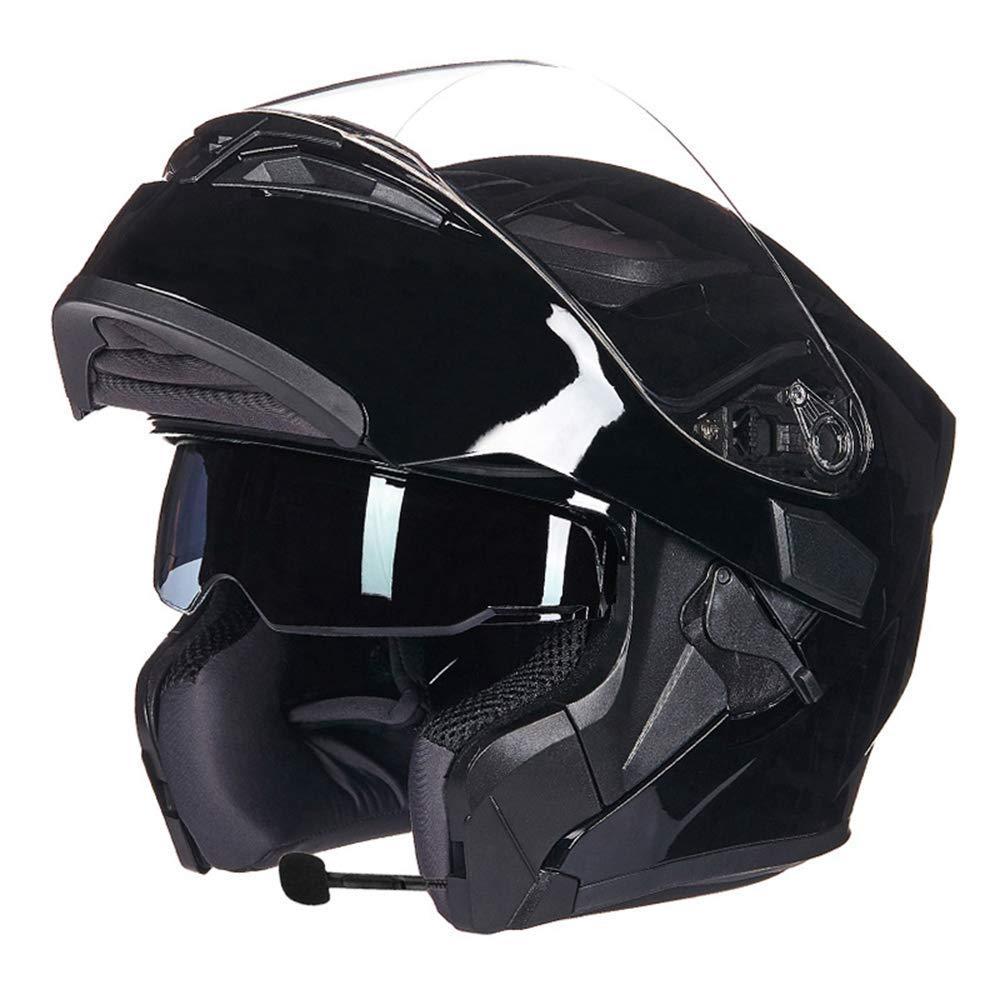 Yhongyang Bluetooth Intégré Modulaire Flip Up Full Face Moto Casque Sun Shield Mp3 Intercom, E, M