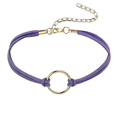 Epinki Mujer Choker, Collar Samtband Eternamente O-Ring Forma ...