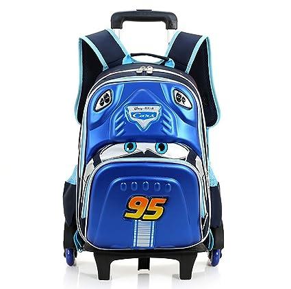 104cc70666 HCC  3D Car Rolling Backpacks Waterproof Adjustable Kids Trolley Schoolbag  7-11 Years Old Climbing