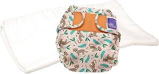 Bambino Mio, miosoft pannolino lavabile in due pezzi (kit di prova), cavallettine felici, taglia 1 (9 kg)