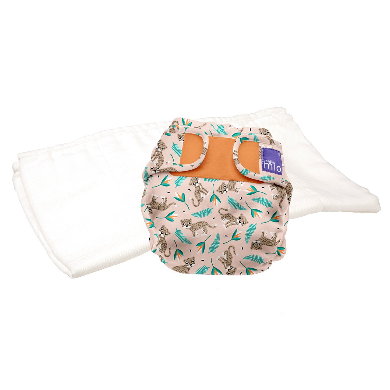 Bambino Mio, mioduo Two-Piece Cloth Diaper, Wild cat, Size 2 (21lbs+)