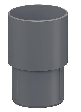 Dachrinne Kunststoff INEFA Ablaufstutzen DN 50 Regenrinne anthrazitgrau