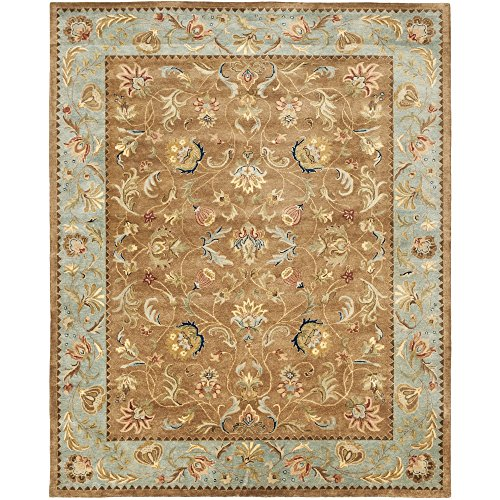 Safavieh Bergama Collection BRG161A Handmade Brown and Blue Premium Wool Area Rug (8' x 10') (Bergama 10' Collection)