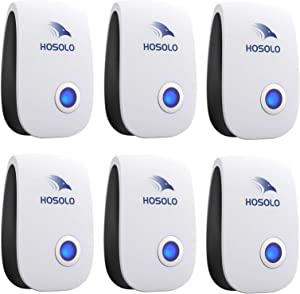 Ultrasonic Pest Repeller 6 Packs, Electronic Pest Repellent Plug in Indoor Pest Control Mosquito, Cockroach, Rat, Spider, Flea, Ant,Bed Bugs, Non-Toxic, Humans and Pets Safe