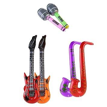 Toyvian Inflable Rock Star Toy Set Guitarra y Saxofón y ...