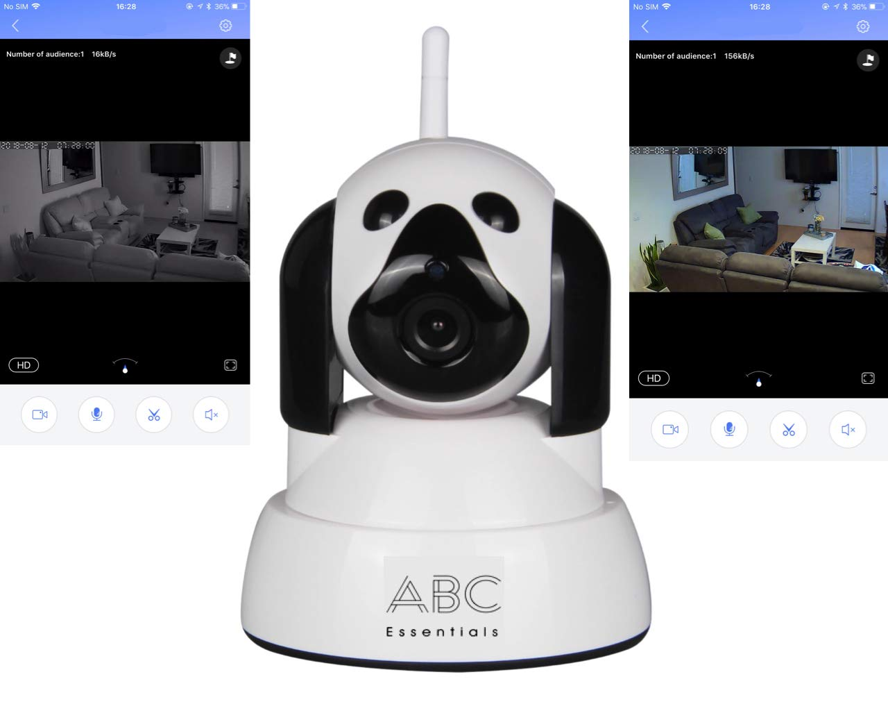 ABC Essentials Video Baby Monitor - theWATCHDOG Best Video Camera for Child  Kid Pet Monitor- Home/Office WiFi Surveillance Camera for