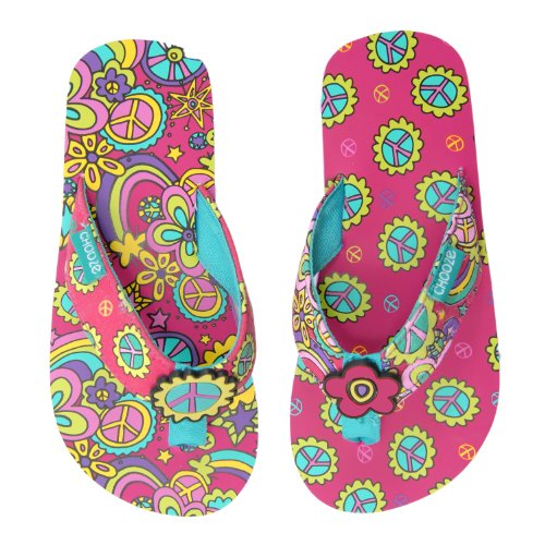 CHOOZE Chill Flip Flop , Share, 12 M US Little Kid