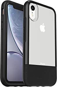 OtterBox Clear & Leather Case for iPhone XR - LUCENT BLACK (CLEAR/BLACK)