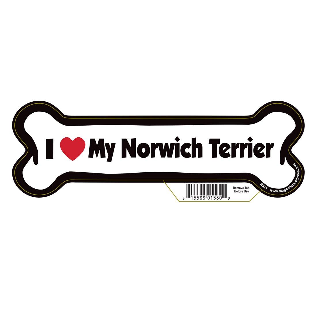 Norwich Terrier Dog Bone Magnet