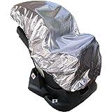 Lictin 113 x 110cm Cubierta Universal para Silla de Coche 100% de Material Ecologico de Aluminio Cubierta de Polvo Calor…