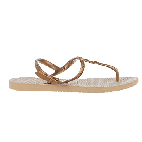 338371b54eddfd Havaianas Women s Freedom Crystal SW Flip-Flops Sand Grey Sandal