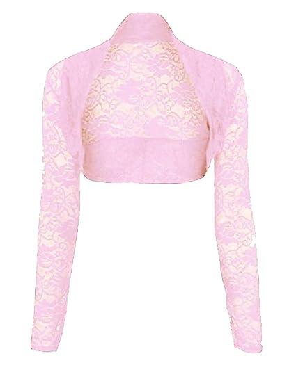 Womens Cropped Lace Shrug Ladies Bolero Plus Shrug Size UK 8-24  Amazon.co. uk  Clothing 5772278a3