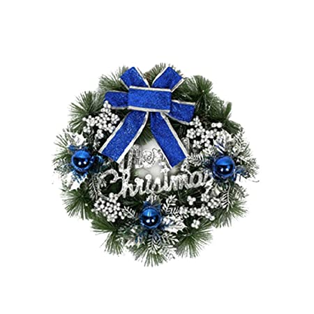 venmo colorful luxury christmas wreaths with bows decorations indoor outdoor artificial xmas baubles garland for tree