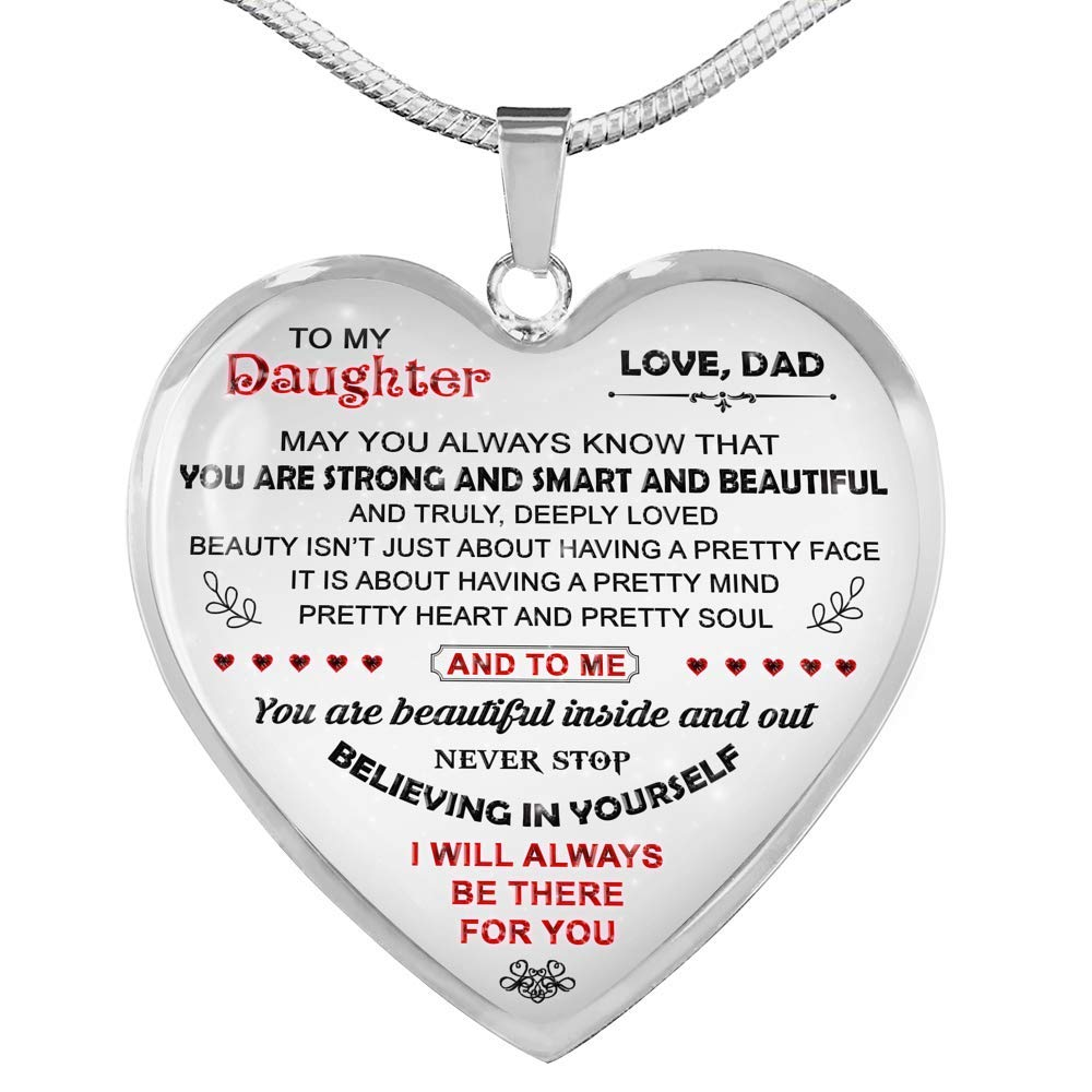 Father Daughter Necklace Luxury Necklace Silver On Birthday Includes Gift Box! Daughter Necklace Anniversary Fa Gifts to My Daughter Necklaces Pendants from Dad Father Daughter Gifts
