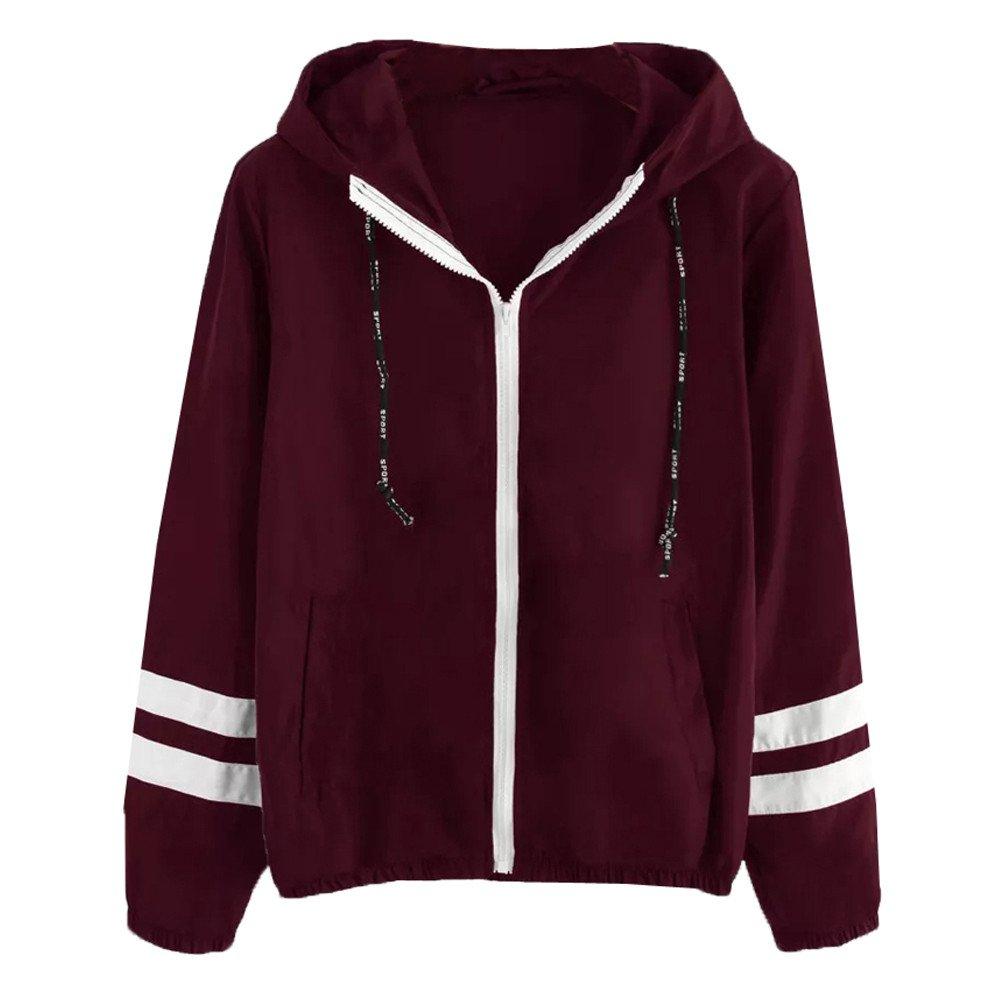 Yiqianzhaobiao_Coats Women Fashion Long Sleeve Patchwork Thin Skinsuits Hooded Zipper Pockets Sport Coat