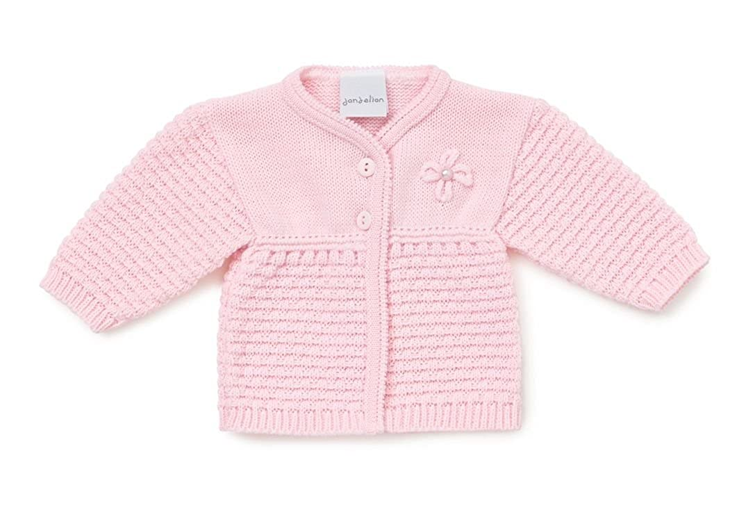Babytown Baby Girls Pink//White Knitted Lace Knit Button Up Cardigans 0-6 Months