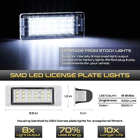 2013-2017 TRAVERSE EQUINOX REAR LICENSE PLATE LIGHT LAMP NEW GM # 13502178