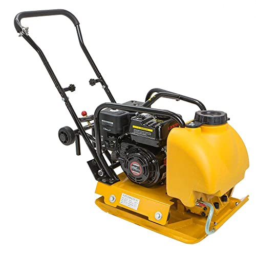 Stark 6.5HP Gas Vibration Compaction Force Industry Plate Compactor Construction 4000Lbs Force Heavy Duty Equipment w Water Tank