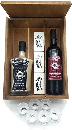 Pack Regalo Bourbon Deli + Midgard Wine + 6 Vasos Chupito: Amazon ...