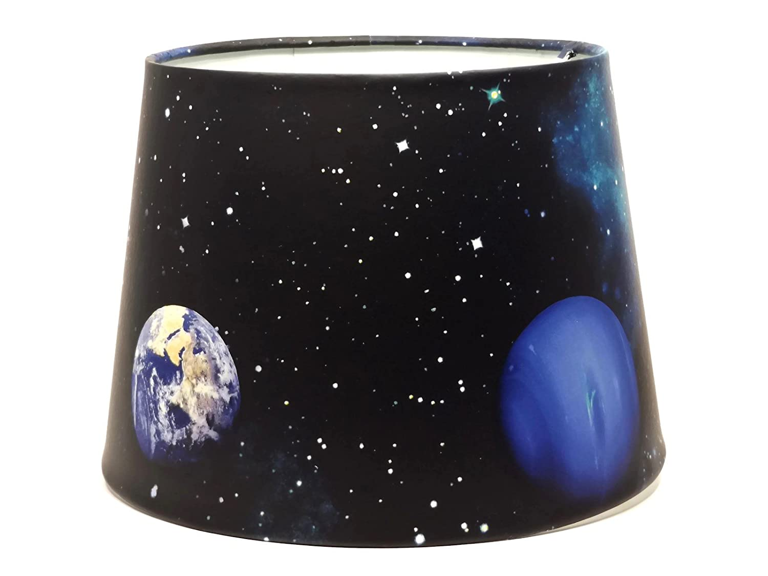 Space Planet Lampshade Ceiling Light Shade Planets Stars Earth Rocket Spaceman Spaceship Boys Girls Bedroom Nursery Accessories 9.5