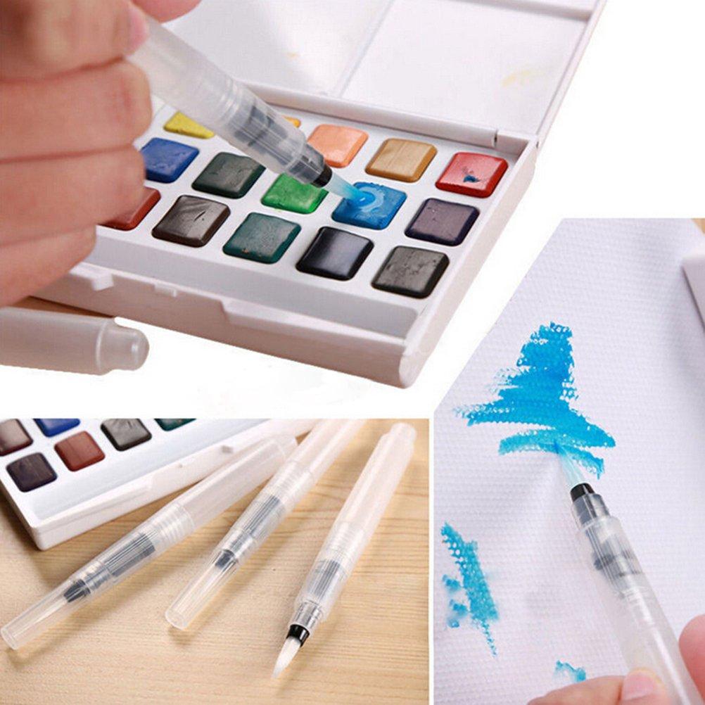 KINREX 3 Piece Water Brush Pen Set White Water Ink Pen