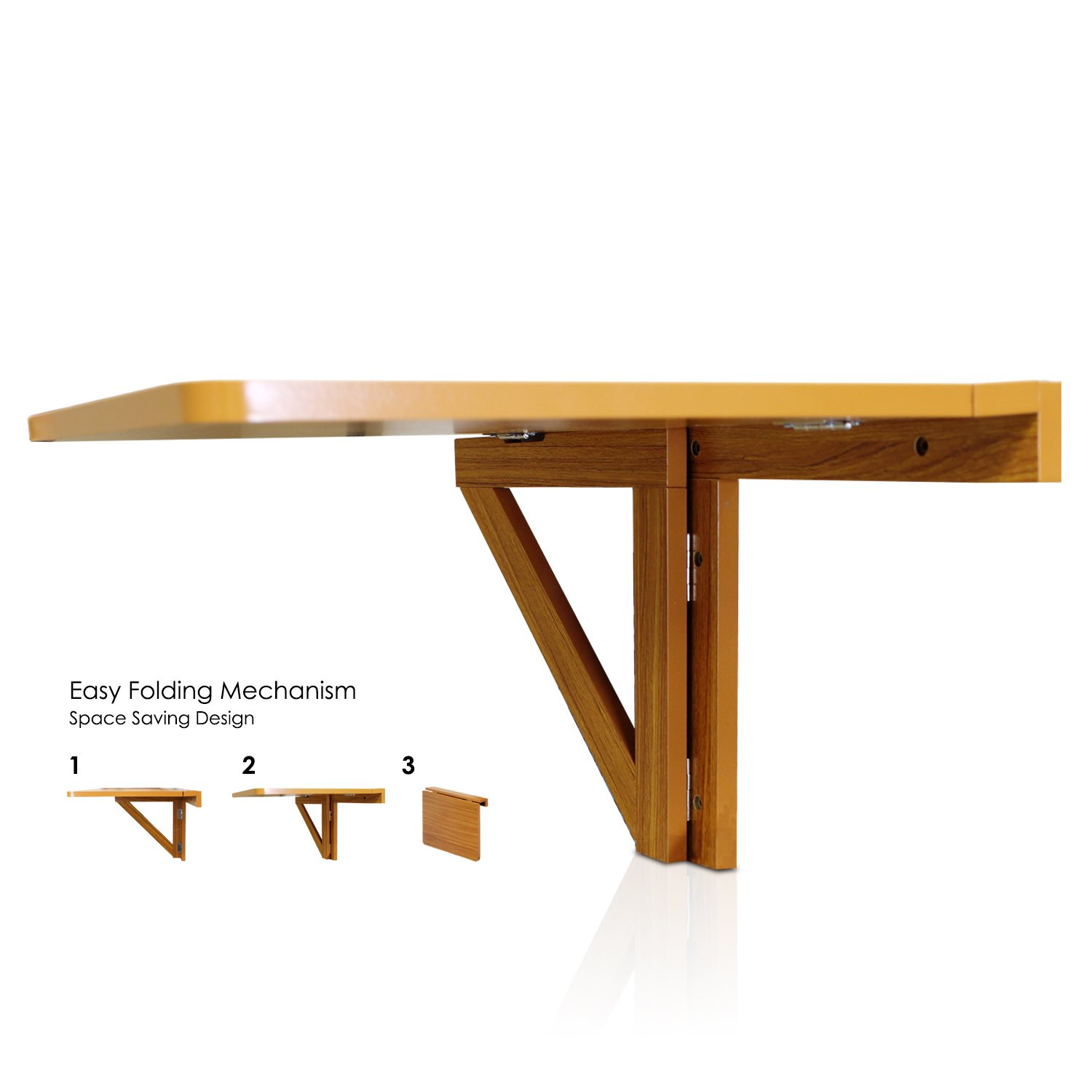 Wall folding table mechanism - Amazon Com Furinno Fnaj 11019ex Wall Mounted Drop Leaf Folding Table Cherry Kitchen Dining
