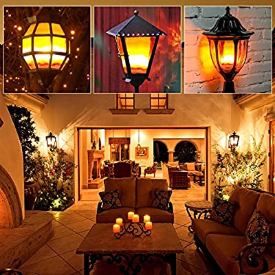 Decorative Light Bulb ,McDen Atmosphere Lighting Flicker Flashing Effect Flameless Candle Light Antique Edison Christmas Garden Decorative Lamp Bulbs, Pack of 1 Bulb