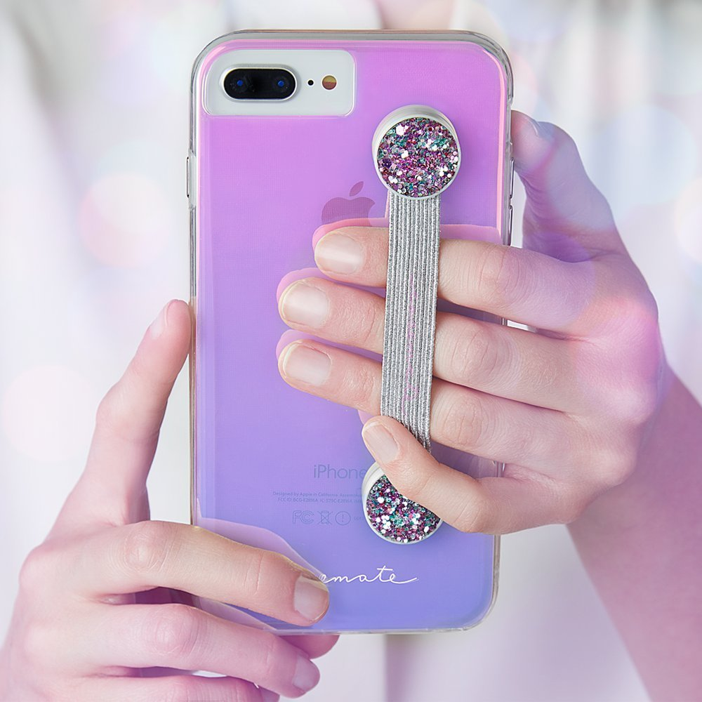 Case-Mate - Straps - Sparkly - Phone Grip - Phone Strap - Black Glitter CM037180